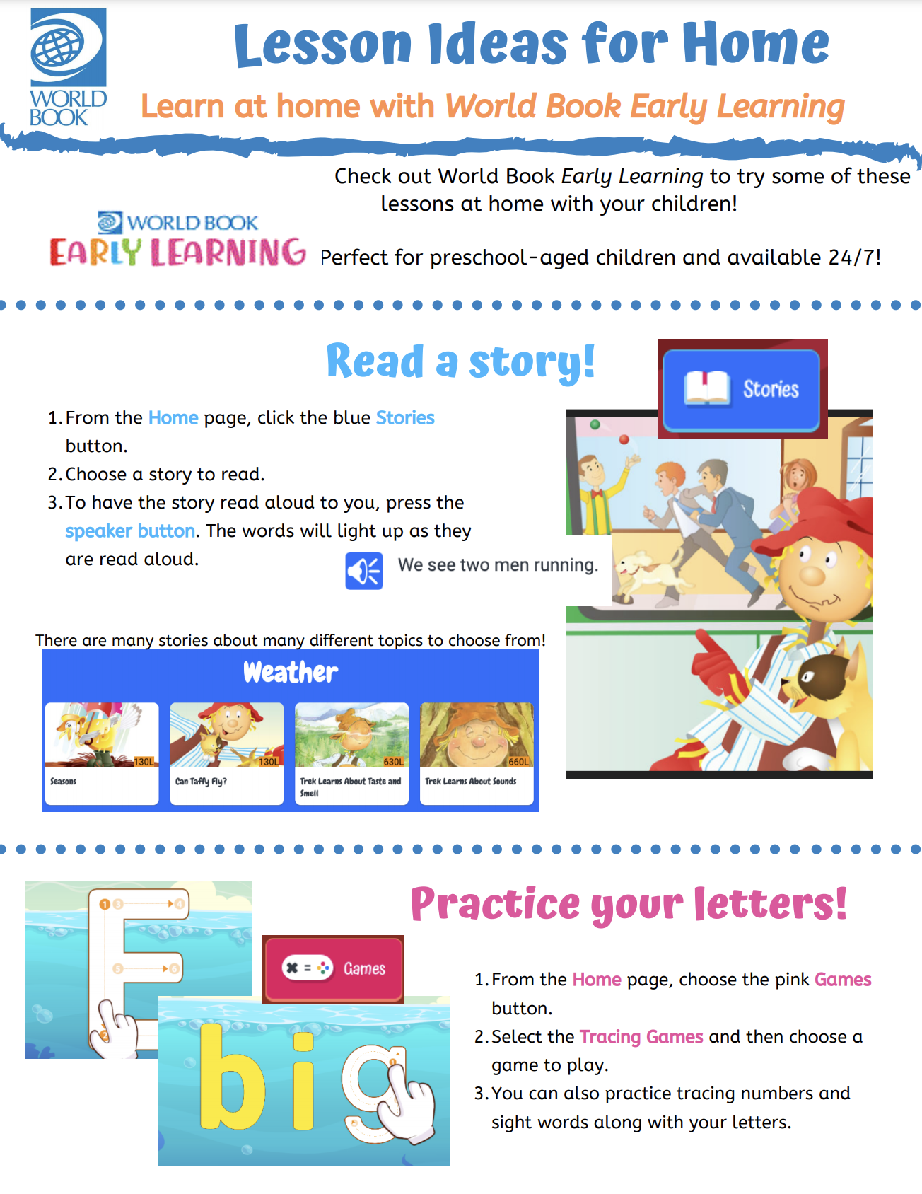 Early Learning Lesson Ideas
