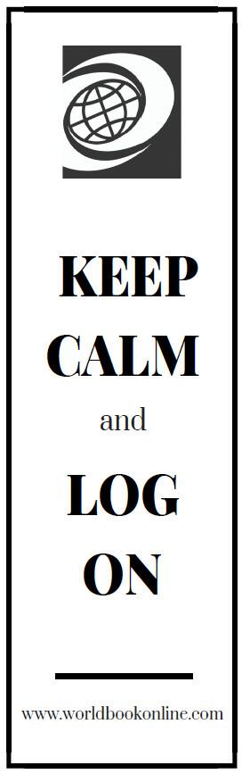 Keep calm bookmark