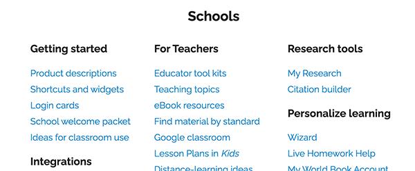 site map schools