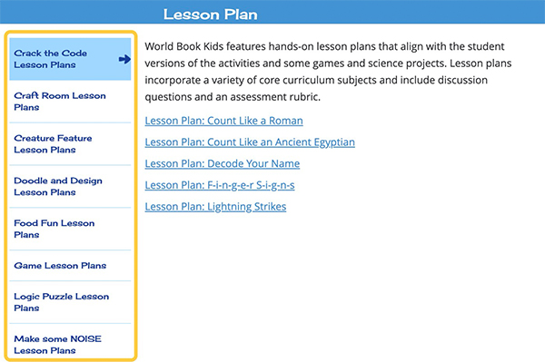 activity lesson plans
