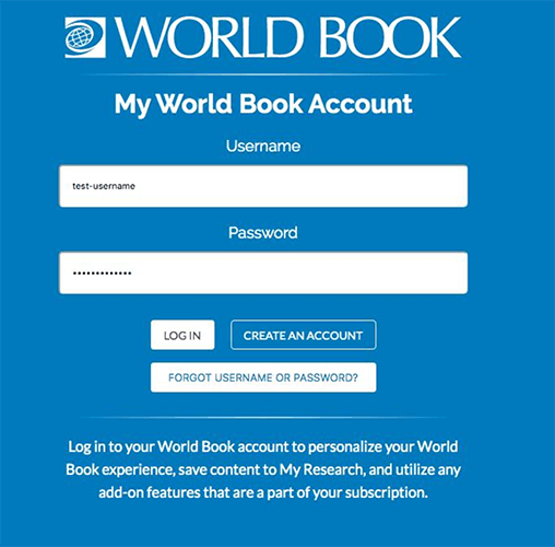 My World Book Account